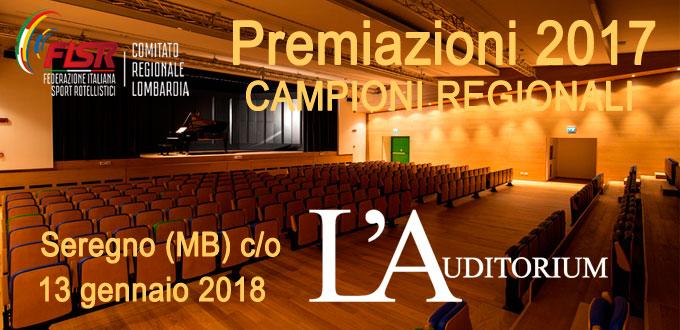 L'Auditorium ospiterà i Campioni Regionali 2017