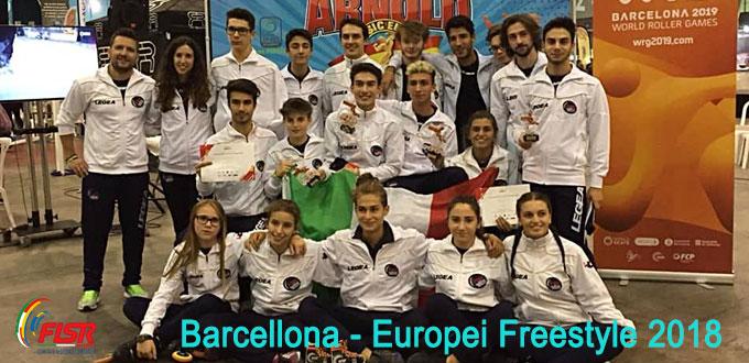 Italia dilagante agli europei di Barcellona di Freestyle