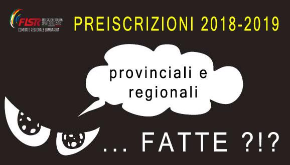 Preiscrizioni 2018-2019