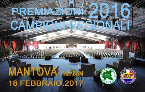 Premiazione Campioni Regionli 2016
