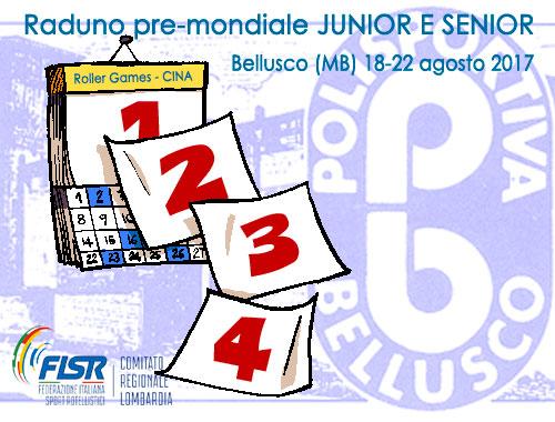 Raduno pre-mondiale Nazionale Junior e senior